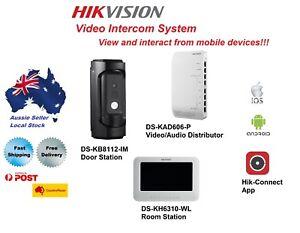Hikvision Video Intercom System (DS-KB8112-IM / DS-KH6310-WL / DS-KAD606-P)