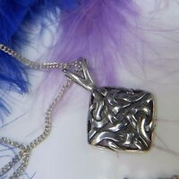 """1"""" Celtic 0.925 Sterling Silver Estate Unisex 18"""" Necklace"""