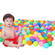 50pcs Quality Secure Cute Baby Kid Colorful Soft Plastic Ocean Ball Swim Pit Toy