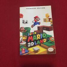Nintedo Prima's Super Mario 3D Land Strategy Guide Game Book Premiere Edition