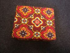 Vintage Material Covered Box  - Suit  Craft / Sewing / Documents / Jewellery