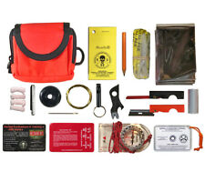 Pocket Survival Kit Orange ESEE Knives Emergency Survival Gear in MOLLE Pouch