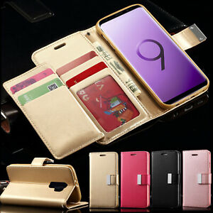 Case For Samsung Galaxy S9 S8 Plus J3 J5 A5 Flip Card Wallet Leather Phone Cover