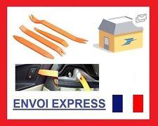Kit outils plastique 4 pieces anti rayure pour demontage clips tableau de bord