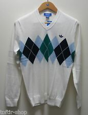 2014 Adidas Originals Ivan Lendl Retro Argyle Tennis Jumper Top BNWT Sz S
