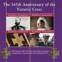 Madagascar Military Stamps 2021 MNH Queen Victoria Cross War Medals 4v M/S