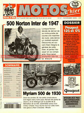 MOTOS d'HIER  31 PEUGEOT 125 175 NORTON 500 Inter MYRIAM DESMOULINS MOTOSACOCHE