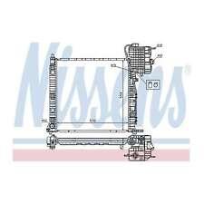 Fits Mercedes Vito W638 2.3 110 TD Genuine Nissens Engine Cooling Radiator