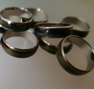 8 Mix Stainless Steel Rings Fashion Rings Wholesale Jewelry Job lot