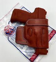 Cebeci Leather OWB Belt Slide REINFORCED Holster, fits H&K P2000, RH, Tan - BLEM