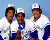 MLB 1980's Toronto Blue Jays Bell Moseby Barfield Color X 10 Photo Free Shipping