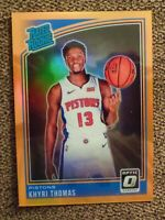 2018-19 Optic Orange Prizm Khyri Thomas ROOKIE /199 DETRIOT PISTONS RC