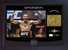 Conor McGregor Floyd Mayweather Jr UFC MMA signed autograph Memorabilia Framed