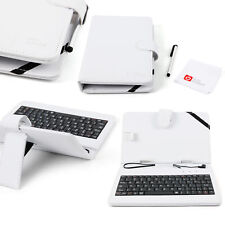 QWERTY Keyboard Folio Case in White for Huawei MediaPad X2, T1 8.0 & 7 Youth