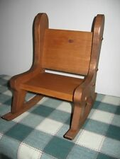 """12.5"""" Handcrafted Pine Wood Rocking Chair for Bears & Dolls & Trolls 1:4 Scale"""
