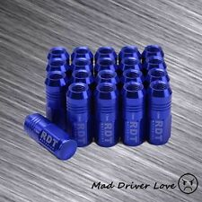 BLUE 50MM CLOSE END 20x ALUM. TUNER LUG NUT 12X1.5mm FOR HONDA CIVIC ACCORD CRX