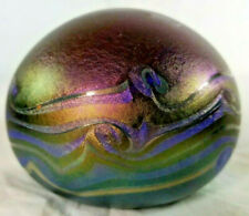 """Vintage 1970s Jim/Connie Grant """"Ocean Waves"""" Paperweight Signed"""