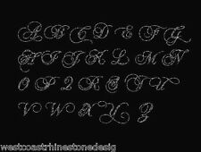 Monogram Letters Large Full Sheet A TO Z Rhinestone Iron on Transfer   Q4WK