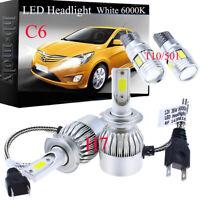 For Mini One Cooper (R50, R53) 01-06 Side/Lo/Hi Beam 501 H7 LED Headlight Bulbs