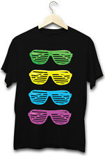 80's Fluro Sunglasses Costume Party Hipster Chic Kitsch Mens Festival T-Shirt