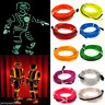 1-5m Flexible LED Neon Light Glow EL Wire String Strip Rope Tube Home Decor Lamp