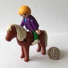 Playmobil Little Boy & Red Brown Pony 3118 5937 Ranch Farm Mansion Dollhouse