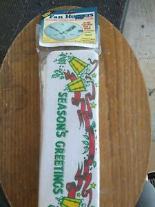 """Vintage CHRISTMAS Fan Blade Covers 38"""" to 52"""" - New In Package"""