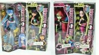 Monster High Ghoulia Yelps, Venus McFlytrap, Draculura, Cleo de Nile Lot 4 Dolls