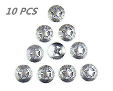 10Pcs MS Leathercraft Conchos Western Texas Star Saddle Rodeo Leather tack TO190