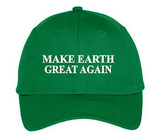Make Earth Great Again Green Hat Cap Bill Maher Real Time Science Climate March