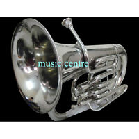 EUPHONIUM 4 VALVE OF PURE BRASS IN CHROME POLISH + CASE+MOUTHPC + FREE SHIPPING