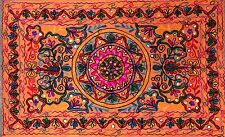 Indian Wall Hanging Tapestry Hippie Bohemian Tapestries Suzani Home Decor Orange