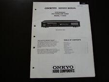 Original Service Manual  Onkyo Amplifier  T-4930