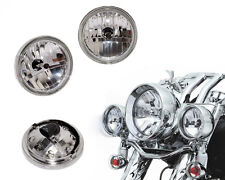 """4 1/2"""" Diamond Cut Ice Auxiliary Passing Lamp Driving Spot Fog Lights For Harley"""