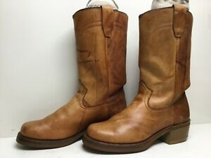 VTG MENS UNBRANDED RIDING BROWN BOOTS SIZE 8.5 D
