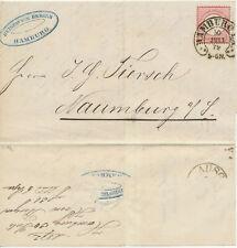"""Brief m.I. DR19, Hufeisen """"Hamburg 30 Juli 72"""" nach Naumburg"""