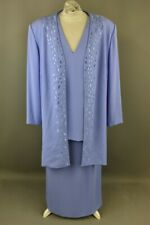3 Pieces Gina Blouse Skirt and Cardigan Size 20 UK Mother of The Bride Lilac