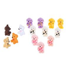 20pcs résine mini chien / ours figurine micro paysage bricolage fée décor
