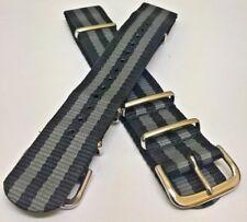 Military James Bond 007 Watch Strap Nylon 22mm