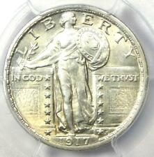 1917 Standing Liberty Quarter 25C Coin Type 2. PCGS Uncirculated Detail (UNC MS)