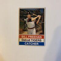 1976 Hostess Bill Freehan # 6 Detroit Tigers MLB Baseball Card Hand Cut