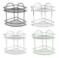2 Tier Corner Shower Caddy Stainless Steel Shower Corner Bathroom Rack Basket