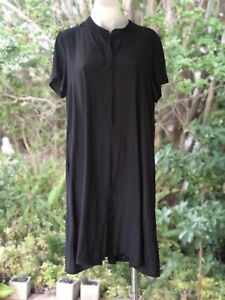 Gorgeous Mela Purdie Black Shirt  Sleeve Mousseline Dress Size 12 Perfect!