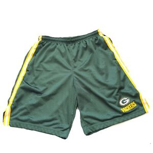 Reebok Green Bay Packers NFL Football Boy's Athletic Active Shorts Size Large