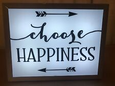 New Choose Happiness Wall Home Decor Sign With Light