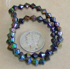 a STRAND of 50 - 5mm Bi- Cone Micro Mood / Mirage Beads  - 1.5mm Hole