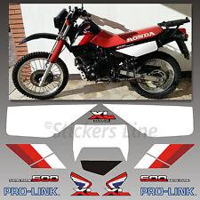 Kit adesivi Honda XL 600 RM 1986/90 stickers xl 600rm mod. Nero decal xl600rm