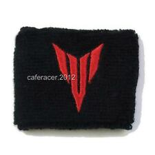 YAMAHA MT FZ 03 07 09 10 BRAKE RESERVOIR SOCKS FLUID TANK CUP COVER BLACK&RED