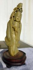 "Chinese Soapstone Statue 8  3/4"" Tall 3 3/4"" Wide"