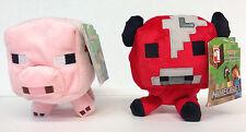 "Minecraft BABY MOOSHROOM & BABY PIG 7"" Plush Set  Licensed Jazwares - NEW"